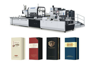 Economic Paper Box Making Machine 12 - 22 Pcs / Min Speed ISO900 Approved