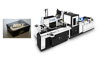 Modular Design Cardboard Box Manufacturing Equipment / Compact Cardboard Box Maker