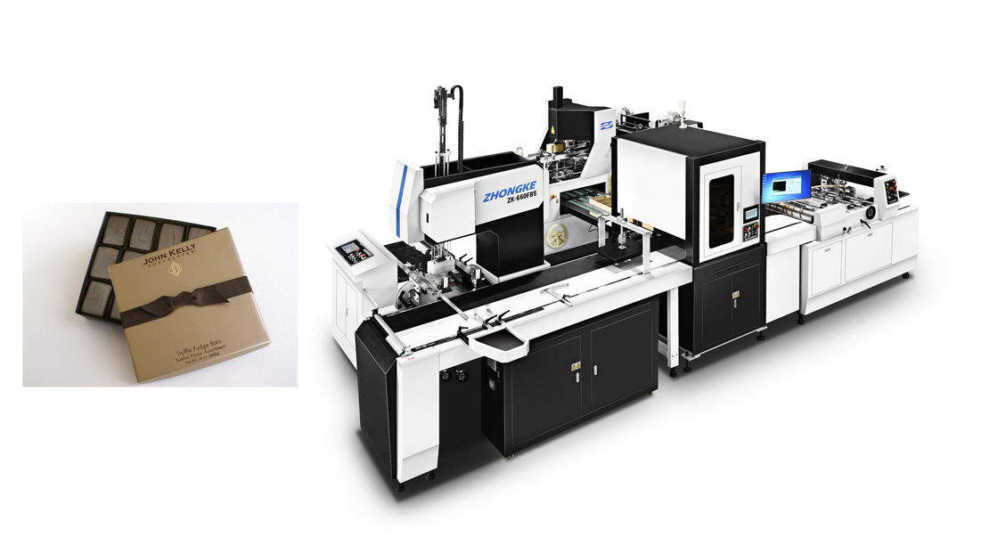 OEM Paper Box Manufacturing Machine / Industrial Cardboard Box Making Equipment